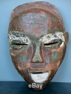 African Art D. R. C. Congo / Zaire Laughing Mask Old Tribal Gem Near Pende Congo