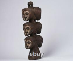 African Statue from LEGA tribe divinity statue fetish DRC wooden tribal art 3100