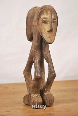 African Tribal Art, Double face Lega statue from Democratic Republic of Congo