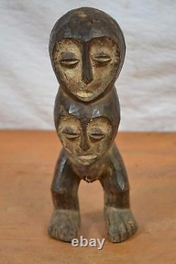 African Tribal Art, Double face Lega statue from maniema