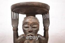 African Tribal Art, Luba- stool Statue-from southeastern DRC