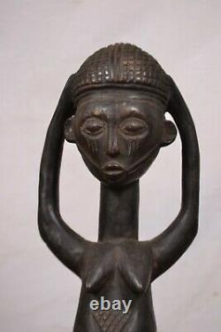 African Tribal Art, amazing Luba Statue from DRC