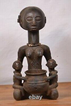 African Tribal Art, amazing Luba Statue from DRC. Congo