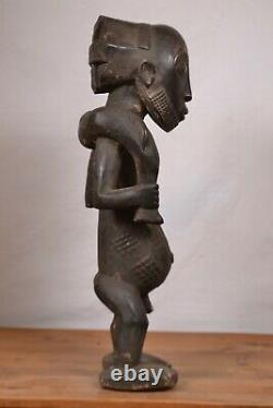 African Tribal Art, amazing Luba hunter Statue from DRC