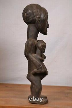 African Tribal Art, amazing Luba maternity Statue from DRC