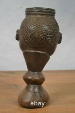 African Tribal Art, amazing chokwe cup from DRC