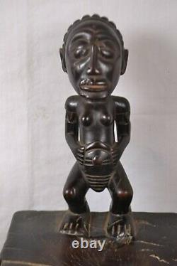 African Tribal Art, amazing hevy chokwe stool from DRC
