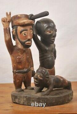 African Tribal Art, colonial tankolo statue from DRC