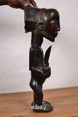 African Tribal Art, hemba Luba witch doctor statue from DRC
