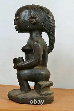 African Tribal Art, luba witch doctor statue from maniema region DRC