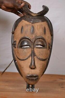 African tribal Art, kwele statue from Gabon, Cameroon and the Republic of Congo