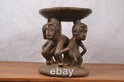 African tribal Art, lengola stool from DRC Congo