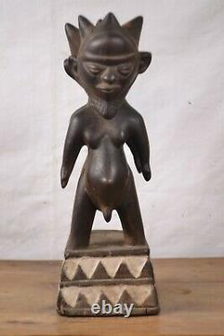 African tribal Art, two face pende statue from Democratic Republic of Congo