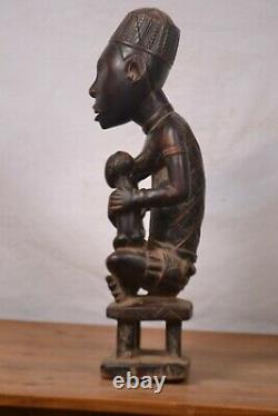 African tribal art, Amazing rare Yombe statue from D R C