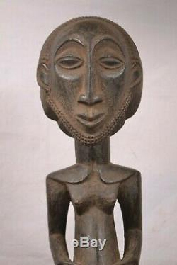 African tribal art, NICE heavy hemba statue from Democratic Republic of Congo