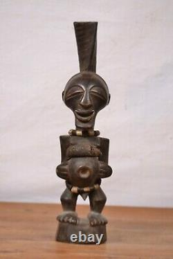 African tribal art, amazing Songye fetish statue from congo(DRC)
