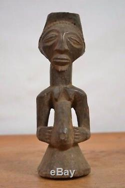 African tribal art, luba buste statue from democratic republic of congo