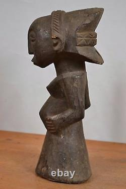 African tribal art, luba buste- statue from democratic republic of congo