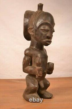 African tribal art, nice luba witch doctar statue from DRC