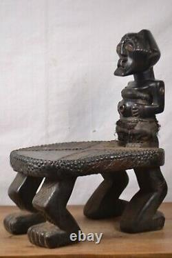 African tribal art, very hevy nice Songye stool from congo