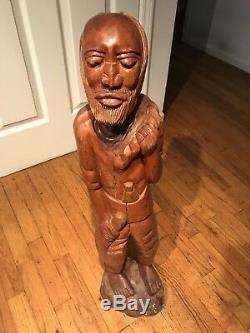 Antique Wooden African Tribal Wood Statue Ivory Coast