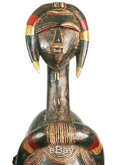 Art African tribal Glam Deco Mask Koulango The Multiple Faces 65 CMS