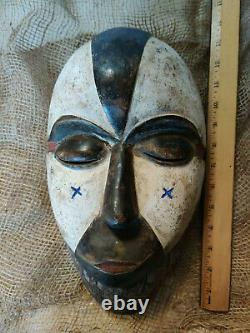 Authentic African Tribal Passport DAN MASK Carved Wood LRG L@@K