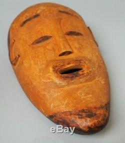 Good Old Unusual African Tribal Art Carved Wooden Mask Congo Angola Colonial Era
