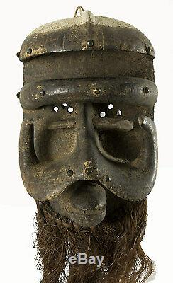 Mask Fighter Beast- Side / Coast D'Art African Ethnic Tribale 6330- F