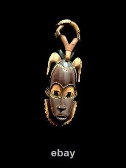 Mask Guro African Coast Art Tribal Carved Hand Wood Tribe Vintage (1294)