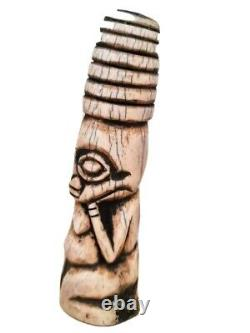 Old Tribal Bamum African Figure - Cameroun Fes-Lcy K35
