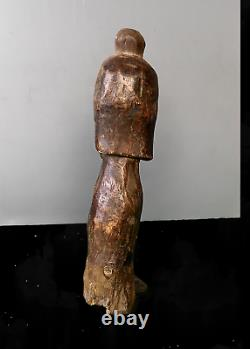 Old Tribal Fang Head Reliquary Head Figure - Cameroon BN 68