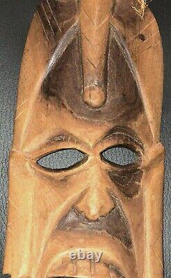Wood Hand Carved African Warrior Tribal