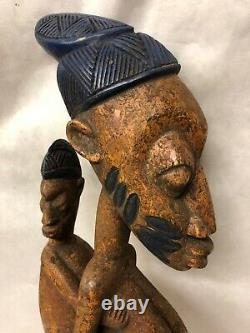 Yoruba Shango Dance Wand. African Tribal Carved Wood. Excellent Condition