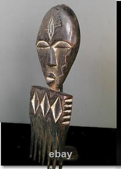 Old Tribal Fang Reliquary Comb Figure - Gabon Bn 59